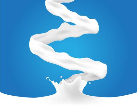 pouring milk and cream vector milk splash illustration.