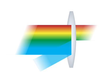 blue ray light filter lens vector illustration.