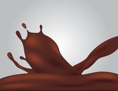 pouring milk chocolate and cream vector illustration. Illustration