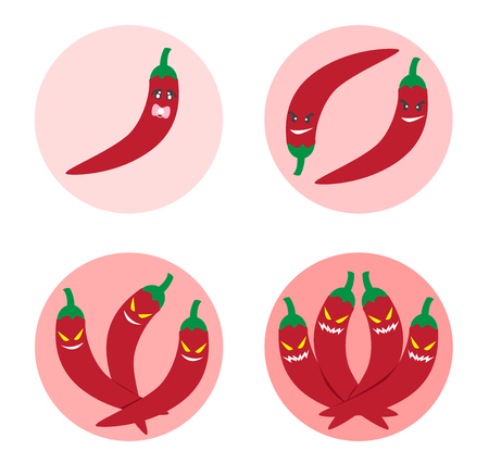 spicy level icon and vector , Chili Pepper logo Illustration