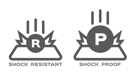 ikona odporności na wstrząsy . wektor