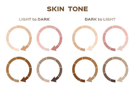 Skin tone index color. Info-graphic vector illustration.