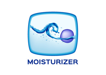 moisturizer in cell skin icon vector