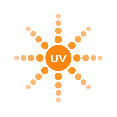 uv skin and ultraviolet icon logo vector