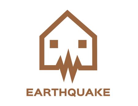 earthquake wave icon vector illustration