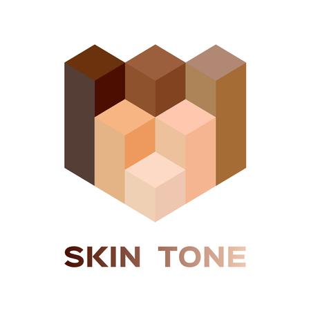skin tone icon color . vector