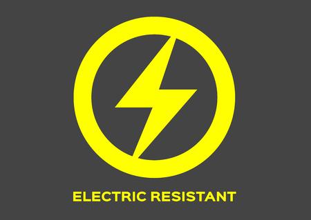 electric resistant icon vector