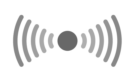 sensor and waves signal icon vector