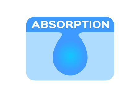 blue water absorption vector icon Vector Illustration