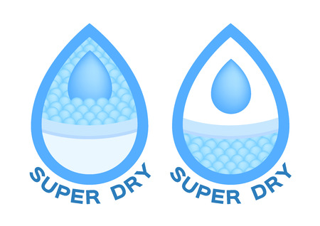 blue water absorption vector icon