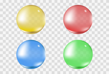 multicolor transparent sphere bubble vector
