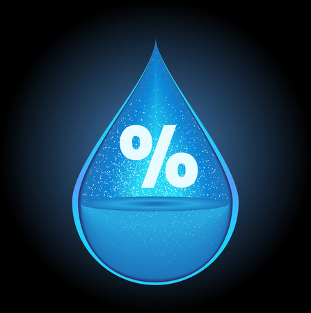 humidity icon vector / drop