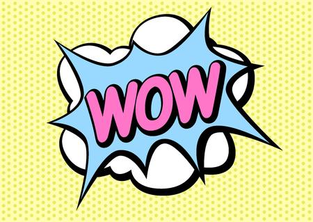 pop art comic speech bubbles vector , cartoon illustrations / sticker / pop wow smash pow Illusztráció