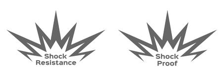 icône de résistance aux chocs. vecteur