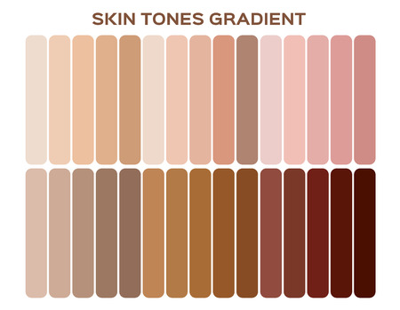 skin tone index color . infographic vector Imagens - 115468036