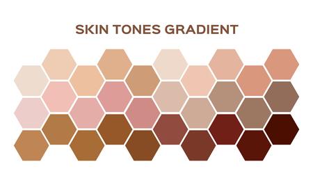 Hauttonindexfarbe. Infografik Vektor