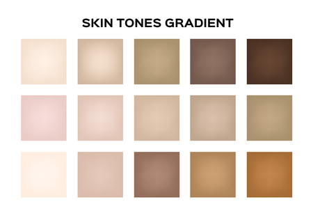 skin tone index color . infographic vector 일러스트