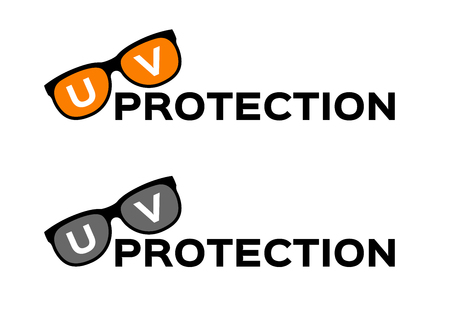 uv and ultraviolet protection  glasses , logo and icon . uv set vector Illustration