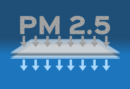 air pollution . pm 2.5vector