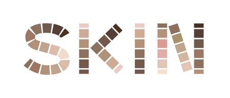 skin tone index color . icon and logo vector 일러스트
