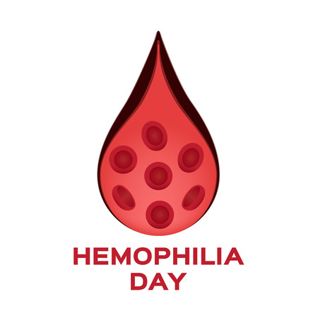 hemophilia and blood vessel vector icon