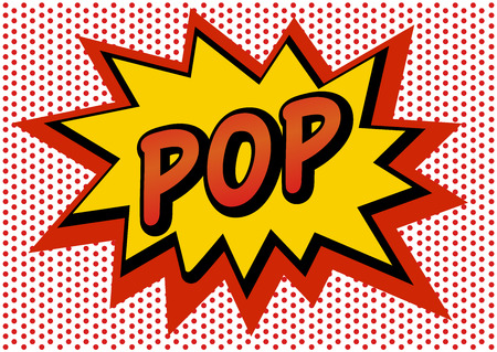 vecteur de bulles de discours comique pop art, illustrations de dessins animés / autocollant / pop wow smash pow