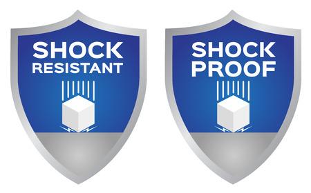 Icono de resistencia a los golpes. vector
