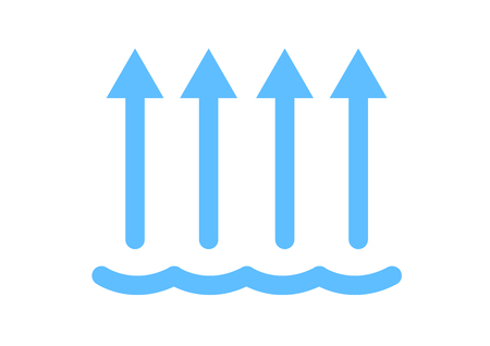 evaporation of water icon / vector