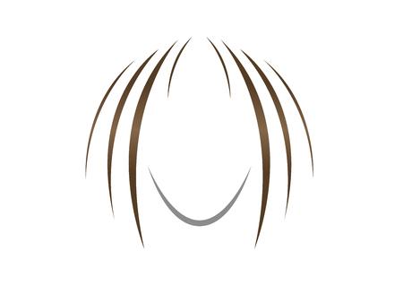 hair icon vector