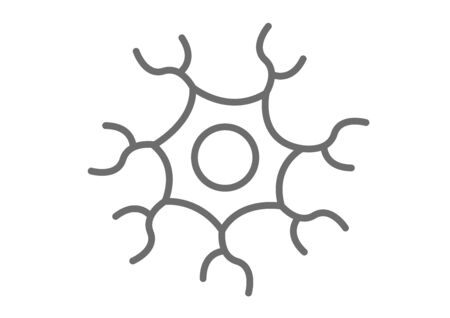 nerve cell icon vector Illustration