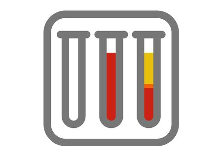 icon of Platelet-Rich plasma procedure stages Illustration