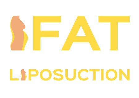 liposuction and fat icon vector