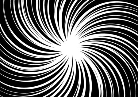 Comic and manga books speed lines background. Superhero action, explosion background. Black and white vector illustration Foto de archivo - 129135440
