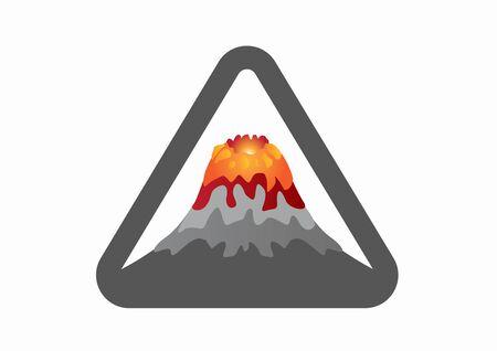 Volcano Icon. Vector in white background Illustration