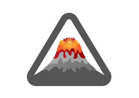 Volcano Icon. Vector in white background Illusztráció