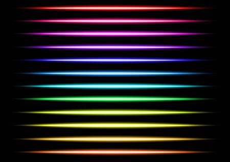 multi color transparent light lines and beam vector