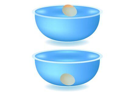 egg floating test in water vector 矢量图像