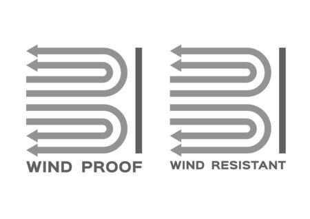 wind proof and resistant icon vector Illusztráció