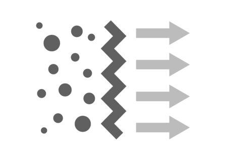 air filter with bacteria and dust vector icon Illusztráció