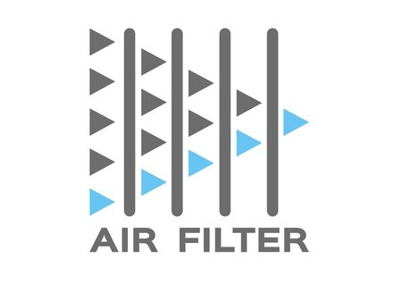 air filter with bacteria and dust vector
