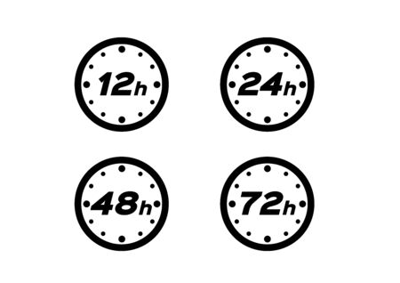 12 , 24 , 48 , 72 hours protection icon, vector