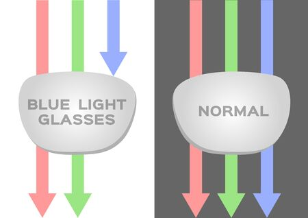 blue ray light filter lens vector