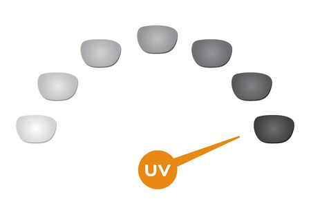Photochromic lens vector. uv can change the color