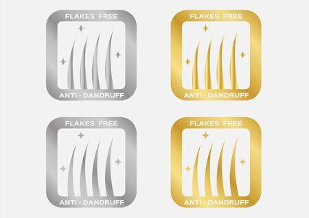 Dandruff on hair vector , flakes icon logo , seborrhea / flakes free