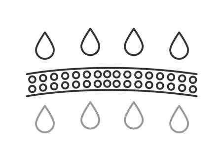 moisturizer and skin absorbtion / line vector 向量圖像