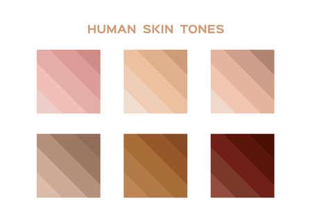 skin tone index color . infographic vectoron white