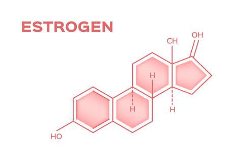 sex hormones , estrogen vector on white