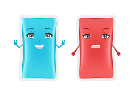 hot and cold gel pack vector . first aid cartoon on white background Ilustrace