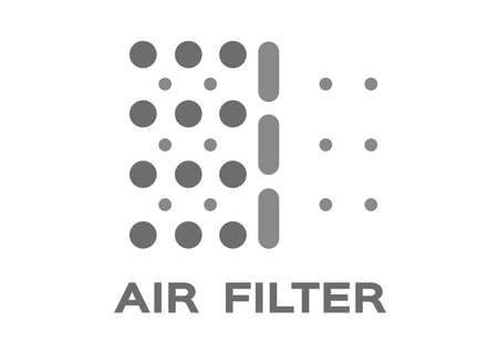 air filter with bacteria and dust proof vector