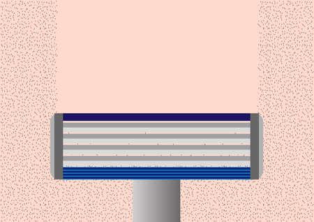 shaving . mustache or whisker . hair removal vector  on white background